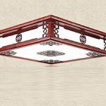 1 PCS Chinois solide bois led acrylique antique lampe salon plafond lampe restaurant lumières AP6151419PY de la marque BWLZSP image 2 produit