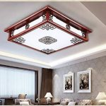 1 PCS Chinois solide bois led acrylique antique lampe salon plafond lampe restaurant lumières AP6151419PY de la marque BWLZSP image 4 produit