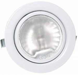 1x Pack 12V Spot encastrable pour meuble Luna avec 20W Ampoule halogène/intensité variable/AMP Prise et câble Couleur: Blanc de la marque Unbekannt image 0 produit