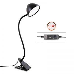 10 W Clamp Lampe De Bureau Led Clip Table Lampe Chambre Étudiant Dortoir Protection Des Yeux Table Lumière Gradation Clip Lumière de la marque LQABW image 0 produit