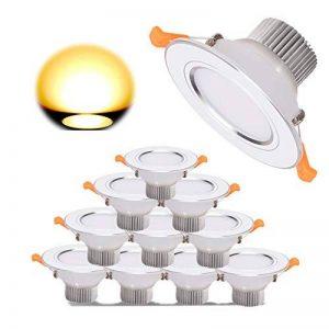 10 X Spots LED Encastré Lampe Intégrée Spots de plafond Rond 7W Blanc Froid 6000K 700Lm Transfo Fourni en Aluminium Le trou 100mm Remplacer à 70W lampe halogène de la marque Grt image 0 produit