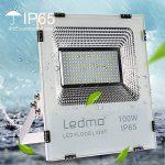 100W Projecteur Led IP65 Spot Led Extérieur 6000K 9000lm Projecteur LED Extérieur étanche Lumière du jour blanc 500W Equivalent halogène, lumières de sécurité, Lumières d'inondation de la marque LEDMO image 2 produit