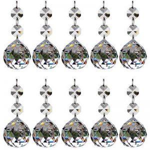 10pcs 20mm Cristal Boule De Verre Lustre Prismes Pendentifs Pièces Perles de la marque Générique image 0 produit