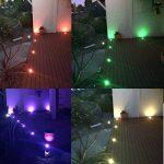 10x Lampe de Spot Encastrable LED Ø60mm RGB pour Terrasse Enterré Plafonnier, 30lm DC12V IP67 Etanche Acier inoxydable avec Télécommande Dimmable, Exterieur luminaire Eclairage Décoration pour Jardin Chemin Couloir Bassin Piscine de la marque 7Colors image 2 produit
