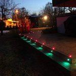10x Spot LED Éclairage extérieur Encastrable, IP67 DC12V RGB/RVB - Décor pour Terrasse Jardin Cour Allée Couloir Lampe de Sécurité de la marque 7Colors image 2 produit