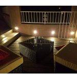 10x Spot LED Eclairage extérieur Encastrable Sol Terrasse Bois, IP67 DC12V 1W Avec Alimentation EU - Décor Pour Jardin Chemin Escalier Patio, Blanc Chaud de la marque 7Colors image 1 produit