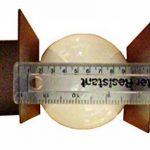 12.5cm diamètre Verre Blanc Sphériques Abat-jour avec aucun collier. Circonférence: 39cm, Trou: 6.5cm dia. [éclairage lumière ballon rond sphère remplacement lustre globe] de la marque Générique image 2 produit