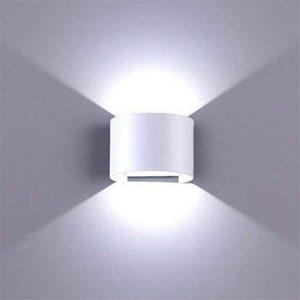 12W Applique murale led Lampe de mur IP65 Interieur Exterieur MAINLICHT Réglabe Lampe de Haut en bas Blanc pour maison chambre salon couloir cuisine - Blanc coque de la marque BELLALICHT image 0 produit