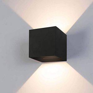 12W Applique Murale Led Noir Applique Led étanche IP65 Réglable Lampe Up and Down Design 3000K Blanc Chaud Applique Murale Convient pour Chambre Maison Couloir Salon couloir, chemin de la marque LEDMO image 0 produit