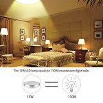 13W Lampe de Plafond LED 960 Lumen Equivalent à Ampoule à Incandescence de 110W Plafonnier Rond LED pour Salle de Bain, Cuisine, Couloir,Chambre,3000K-Blanc Chaud de la marque LEDGLE image 3 produit