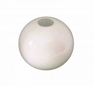 15.0cm diamètre Verre Blanc Sphériques Abat-jour Suspendu. Circonférence: 47cm, Petit trou (haut): 3.1cm dia., Grand trou: 9cm dia. [éclairage lumière ballon rond sphère remplacement lustre globe] de la marque C Smethurst image 0 produit