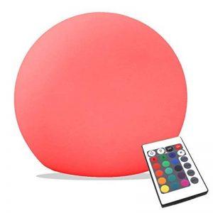 15cm Sphère Boule Lumineuse LED - Lampe Ronde RGB Multicolore Ambiance - Lumière Rechargeable + Télécommande de PK Green de la marque PK Green image 0 produit