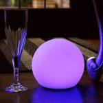 15cm Sphère Boule Lumineuse LED - Lampe Ronde RGB Multicolore Ambiance - Lumière Rechargeable + Télécommande de PK Green de la marque PK Green image 1 produit