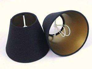 2 Abat-jour fait main petit - Linge noir avec doublure d'or de la marque Tophouse Design - Abat-jour et coussins image 0 produit