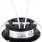 2en 1slim Spot encastrable pour meuble G412V–Métal brossé–en boîtes de 60mm Interrupteur compatible–Verre Mat + Transparent 1 X de la marque HAVA image 3 produit