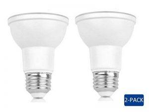 2-pack 7W Spot PAR2063mm de diamètre 35000heures (40°) 50W équivalent à culot à vis E275000K Blanc lumière du jour de la marque Laisha image 0 produit