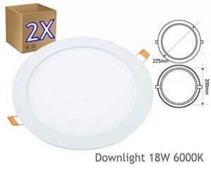 2x downlight lED 18W 6000K rond encastrable blanc–jandei de la marque Jandei image 0 produit