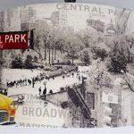 20,3cm Manhattan Taxi jaune New York Statue de la Liberté Lampe de table abat-jour de la marque Kushade image 1 produit