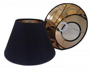 20,3cm Noir Cône Abat-jour Doré Doublure Abat-jour faite à la main lampe de table de la marque ArG Lighting image 0 produit