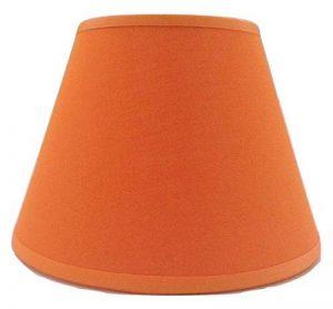 20,3cm Orange Tissu de coton Abat-jour lumière Abat-jour Table fait à la main. de la marque ArG Lighting image 0 produit