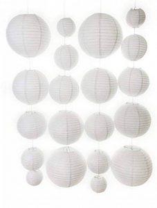 20 Pcs Lanternes en Papier Ronde rouge + lot de 20 Mini Ampoule à Led , Lanternes en Papier Ronde, Lanternes de papier chinois, abat-jour de la marque SaaGiio image 0 produit