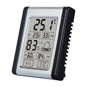 [2018 La dernière] Hygromètre à thermomètre intérieur, Diyife® Mini-thermomètre à commande tactile LCD numérique avec dos magnétique, moniteur de température et d'humidité avec enregistrements MIN / MAX de la marque Diyife image 0 produit