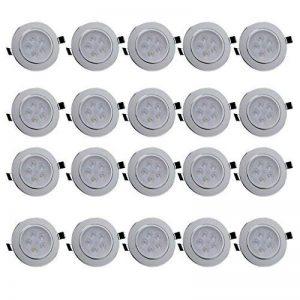 20x Spot LED Orientable Anten® Plafonnier LED 5W Fixation Spot Encastrable Lumière Blanc Froid (6000-6500K) Lampe Ronde pour Cuisine, Couloir, Salon et Veranda (Trou de montage Ø95mm) de la marque Anten image 0 produit