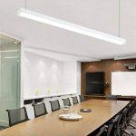 24W Suspension LED Suspension Luminaire en Aluminium Hauteur Réglable 2700LM Blanc froid 6000K Moderne pour Salle à manger, salon et Restaurant Blanc de la marque Witss image 4 produit