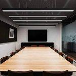 24W Suspension LED Suspension Luminaire en Aluminium Hauteur Réglable 2700LM Blanc froid 6000K Moderne pour Salle à manger, salon et Restaurant Noir de la marque Witss image 3 produit