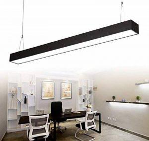 24W Suspension LED Suspension Luminaire en Aluminium Hauteur Réglable 2700LM Blanc froid 6000K Moderne pour Salle à manger, salon et Restaurant Noir de la marque Witss image 0 produit