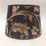 25,4cm Or Noir A Fleurs Empire Abat-jour en tissu lampe de chevet Abat-jour fait à la main. de la marque ArG Lighting image 1 produit