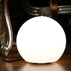 25cm Boule Lumineuse LED Blanche - Lampe Ronde de Table Chevet Moderne Design Décoration (Ampoule E27 Incluse) de PK Green de la marque PK Green image 0 produit