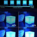 25cm Cube Lumineux Batterie Rechargeable Lumière d'Ambiance avec Télécommande, LED Lampe de Nuit de Chevet pour Enfants avec Couleur Changeante, 16 RGB Couleurs et 8 Dimmable Luminosité de la marque MR.GO image 2 produit