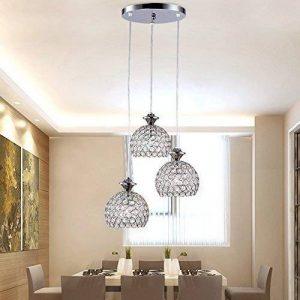 3 Globe Moderne Lustre Appareil d'éclairage Réglable en Hauteur Lampe en cristal Élégance Lumière pour Salle à manger, Couloir, Salon Luminaire de Plafond(Ampoules non Comprises) de la marque MUMENG image 0 produit
