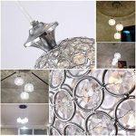 3 Globe Moderne Lustre Appareil d'éclairage Réglable en Hauteur Lampe en cristal Élégance Lumière pour Salle à manger, Couloir, Salon Luminaire de Plafond(Ampoules non Comprises) de la marque MUMENG image 2 produit