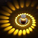 3W moderne design créative encastrables LED ronde Corridor Creative Downlight Gang Lumières Plafonnier Spots Encastrables Effet Lampe murale Leuchten Spots Ombre Effet lumière spirale orientable couloir lampe décoration murale stahler Lampe inkl1Ampoule image 3 produit