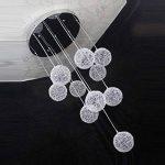 35,6cm Câble en aluminium de 10lampes boules en verre Parlor plafond Pendentif lumière moderne Escalier Design Salon Cuisine Salle à manger Plafonnier de la marque OOVOV image 2 produit
