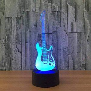 3D coloré lumière nocturne LED Touch Switch USB Guitar gradient illuminateur lumière Desktop Light de la marque Light image 0 produit