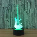3D coloré lumière nocturne LED Touch Switch USB Guitar gradient illuminateur lumière Desktop Light de la marque Light image 1 produit