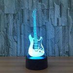3D coloré lumière nocturne LED Touch Switch USB Guitar gradient illuminateur lumière Desktop Light de la marque Light image 2 produit