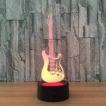 3D coloré lumière nocturne LED Touch Switch USB Guitar gradient illuminateur lumière Desktop Light de la marque Light image 3 produit