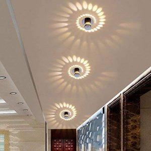 3W LED Eclairage Encastré Cadre et Lampe LED Downlight Lampe Intégrée Spots de Plafond Applique Murale Rond Ø5.5CM Aluminium de la marque HanLinLight image 0 produit