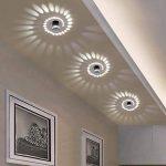 3W LED Eclairage Encastré Cadre et Lampe LED Downlight Lampe Intégrée Spots de Plafond Applique Murale Rond Ø5.5CM Aluminium de la marque HanLinLight image 1 produit