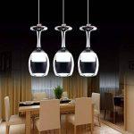 3Wx3 lumière lumière tasse lampe suspension Wineglass LED - Suspension pour le salon Salon Bar Salle Blanc Neige de la marque KJLARS image 1 produit