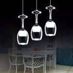 3Wx3 lumière lumière tasse lampe suspension Wineglass LED - Suspension pour le salon Salon Bar Salle Blanc Neige de la marque KJLARS image 2 produit