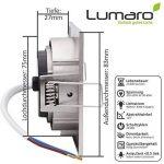 3x Lumare Slim Line LED spot encastrable IP44 angulaire/argent avec seulement une profondeur d'installation de 27 mm! | Spot de plafond 4W 400lm AC 230V de la marque Lumare image 2 produit
