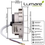 3x Lumare Slim Line LED spot encastrable IP44 rond/argent avec seulement une profondeur d'installation de 27 mm!   Spot de plafond 4W 400lm AC 230V de la marque Lumare image 3 produit