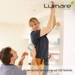3x Lumare Slim Line LED spot encastrable IP44 rond/argent avec seulement une profondeur d'installation de 27 mm! | Spot de plafond 4W 400lm AC 230V de la marque Lumare image 1 produit