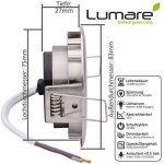 3x Lumare Slim Line LED spot encastrable IP44 rond/argent avec seulement une profondeur d'installation de 27 mm! | Spot de plafond 4W 400lm AC 230V de la marque Lumare image 3 produit