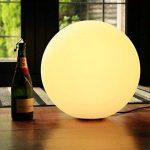 40cm Lampe de Sol LED Design Moderne, Sphère Lumineuse Lampadaire Salon RGB Multicolore avec Télécommande de PK Green de la marque PK Green image 3 produit